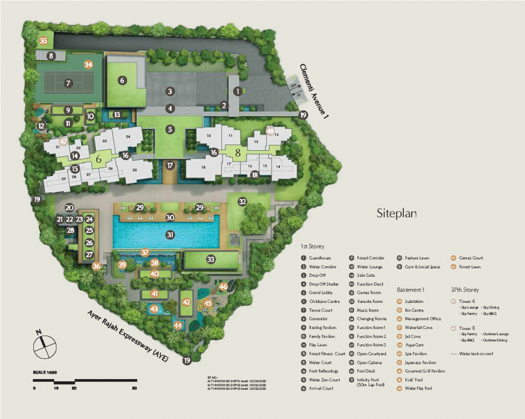 clavon-condo-Site-Plan-by-UOL-UIC-singapore